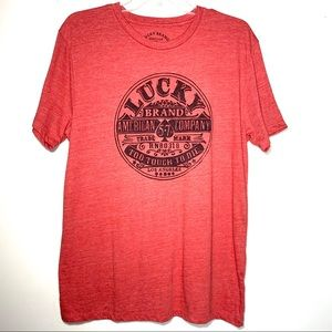 "Lucky Brand ""Too Tough To Die"" Graphic Tee Sz M"